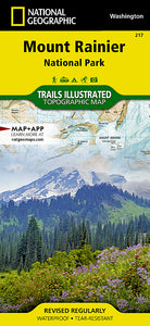 National Geographic Mount Rainier National Park Map (217)