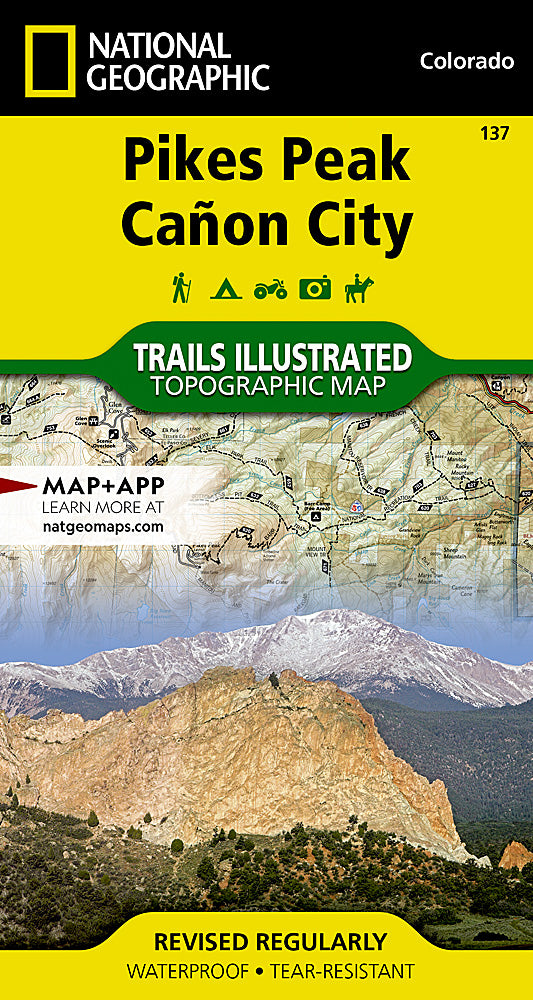 National Geographic  Pikes Peak, Cañon City Map (137)