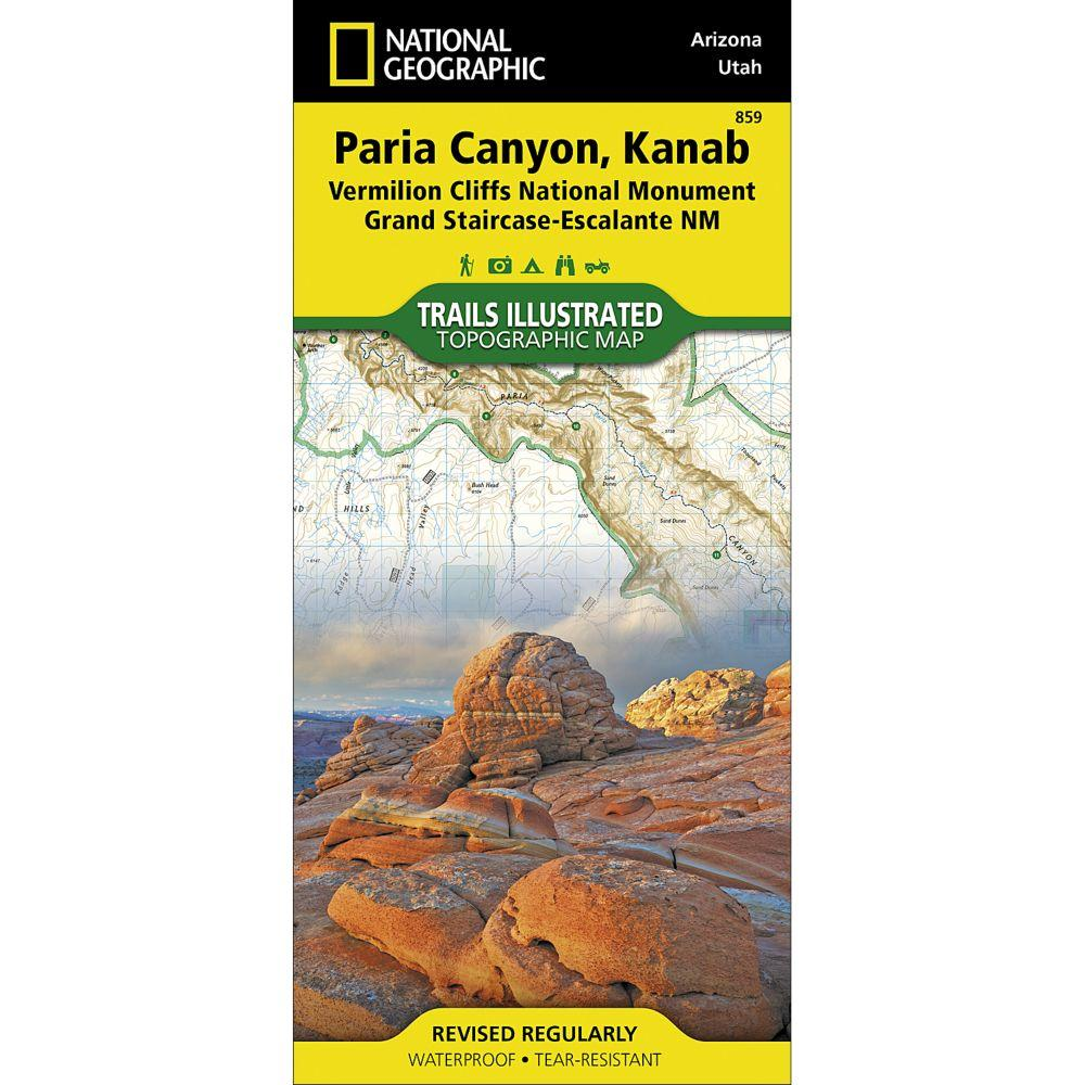 National Geographic  Paria Canyon, Kanab Map [Vermillion Cliffs National Monument, Grand Staircase-Escalante National Monument] (859)