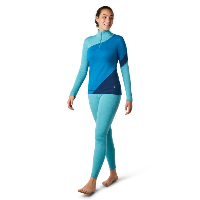 Smartwool Women's Merino 250 Colorblock Baselayer 1/4 Zip