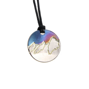 Spiltter Designs Round Mountain Pendant