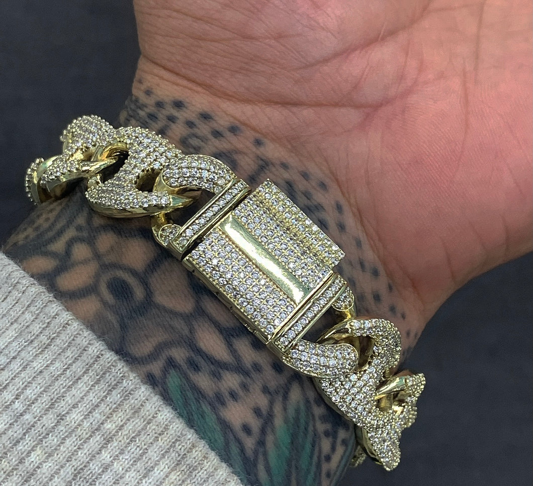 16mm full Gucci link Cuban bracelet