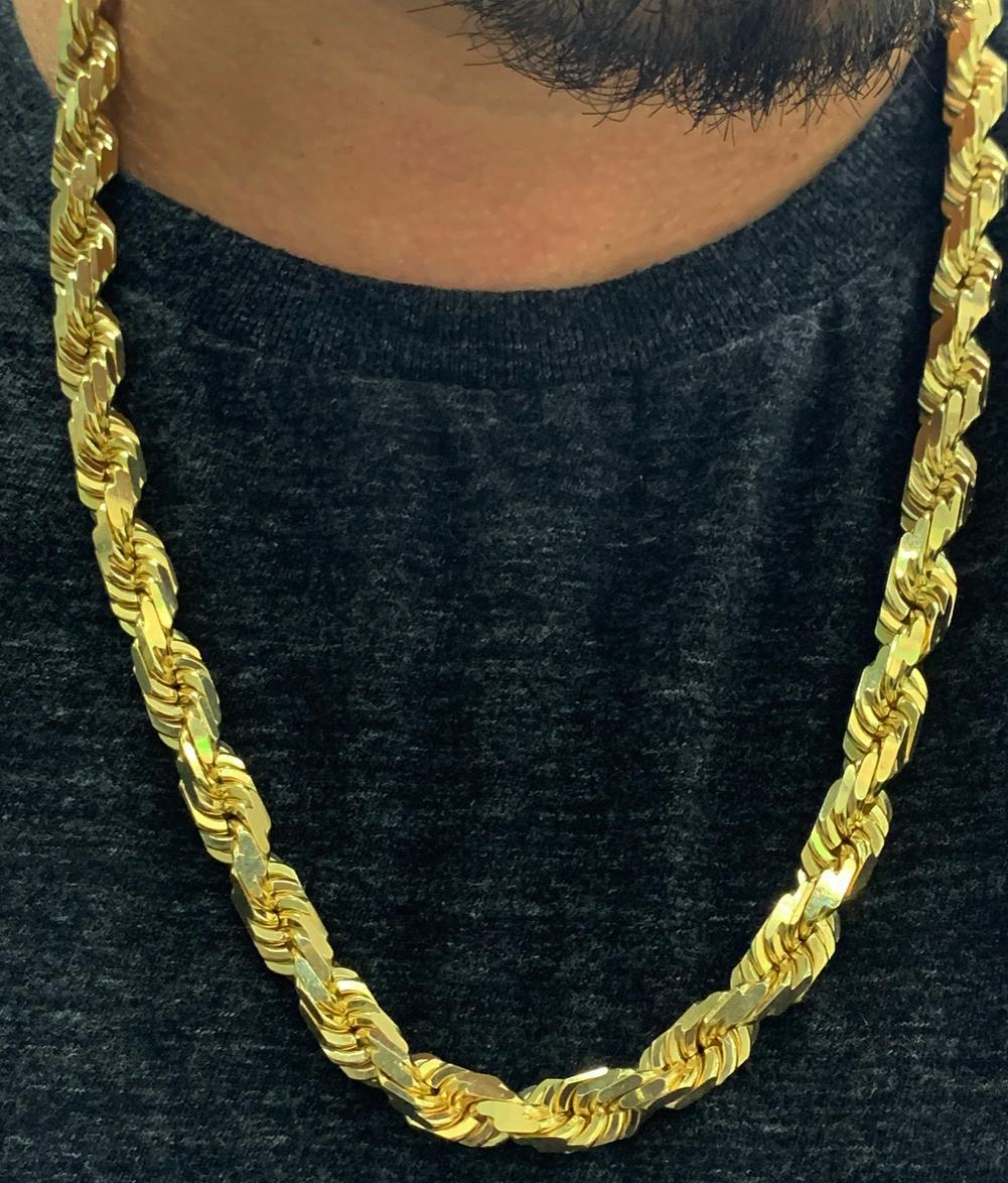 10mm solid gold rope chain