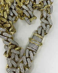 12mm 10k diamond cuban link