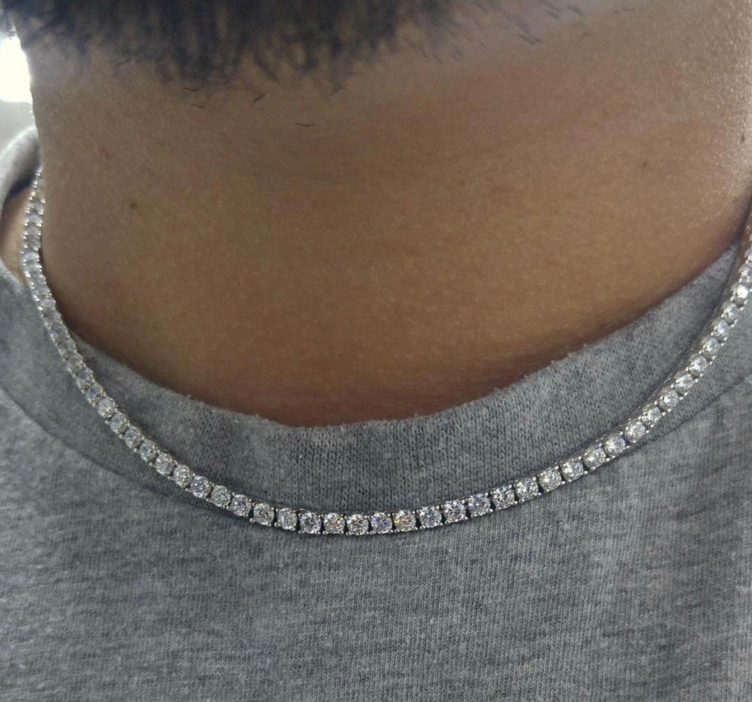 925 sterling silver tennis chain