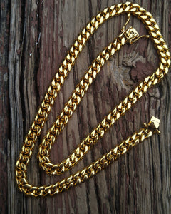 8mm solid cuban link