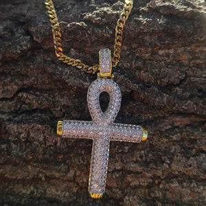 alpha iced flooded ankh& chain set