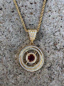 solid radiant red ruby halo