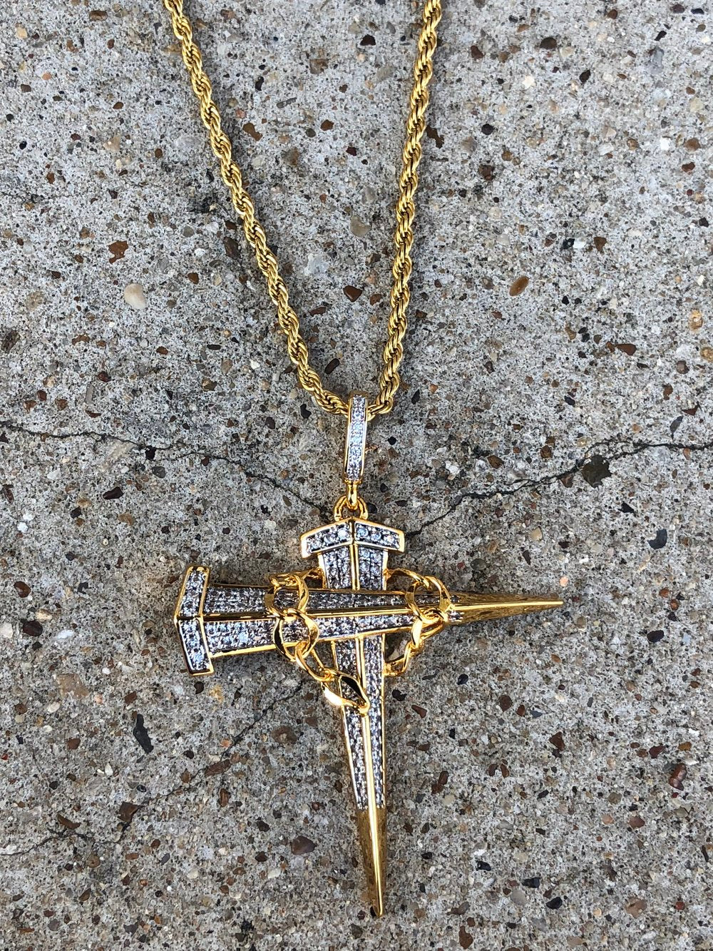 thorn lab diamond layered cross