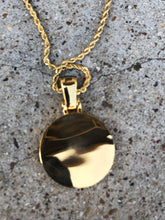 Load image into Gallery viewer, solid mercedes pendant with black lab diamonds