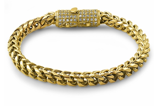 6mm franco bracelet with diamond clasp 8inch