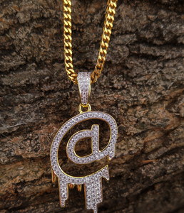 lab diamond @ pendant and chain