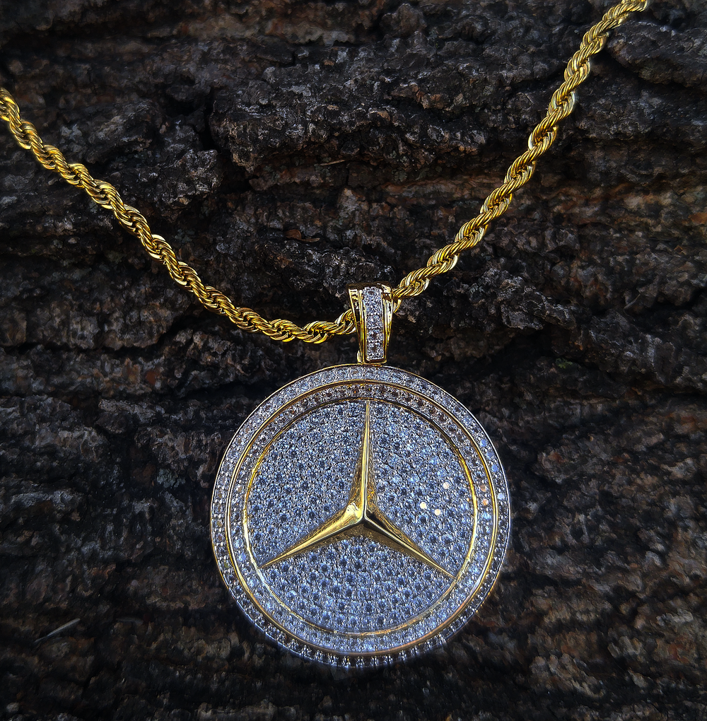 BENZ logo and chain set