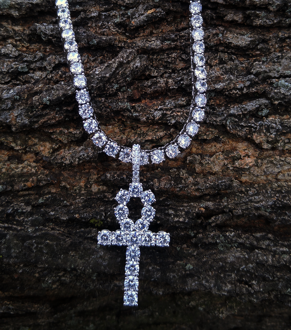 4mm tennis chain & white gold 2018 ankh