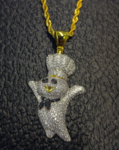 yellow gold finish dough boy set