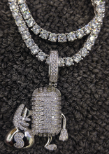Load image into Gallery viewer, money MIC pendant and tennis chain set