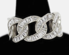 Load image into Gallery viewer, 925 silver baguette cuban ring