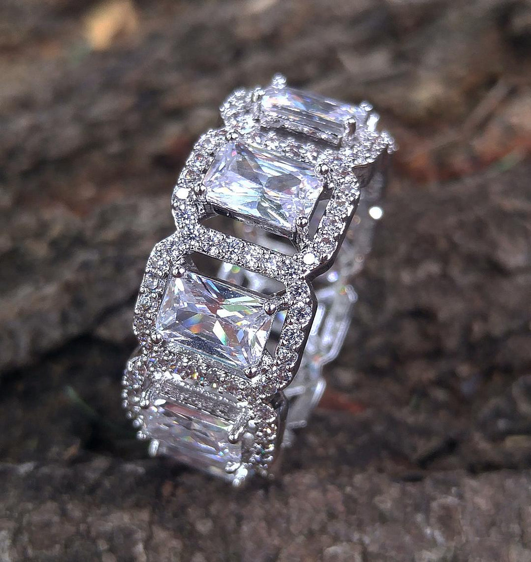 cluster princess cut ring
