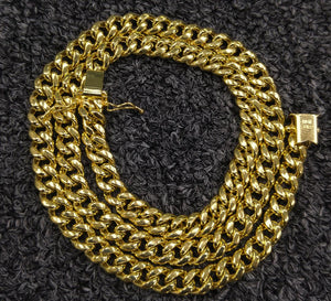 7mm 10k gold cuban link 20inch