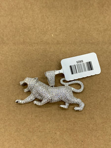925 silver lion pendant with rope chain 20inch
