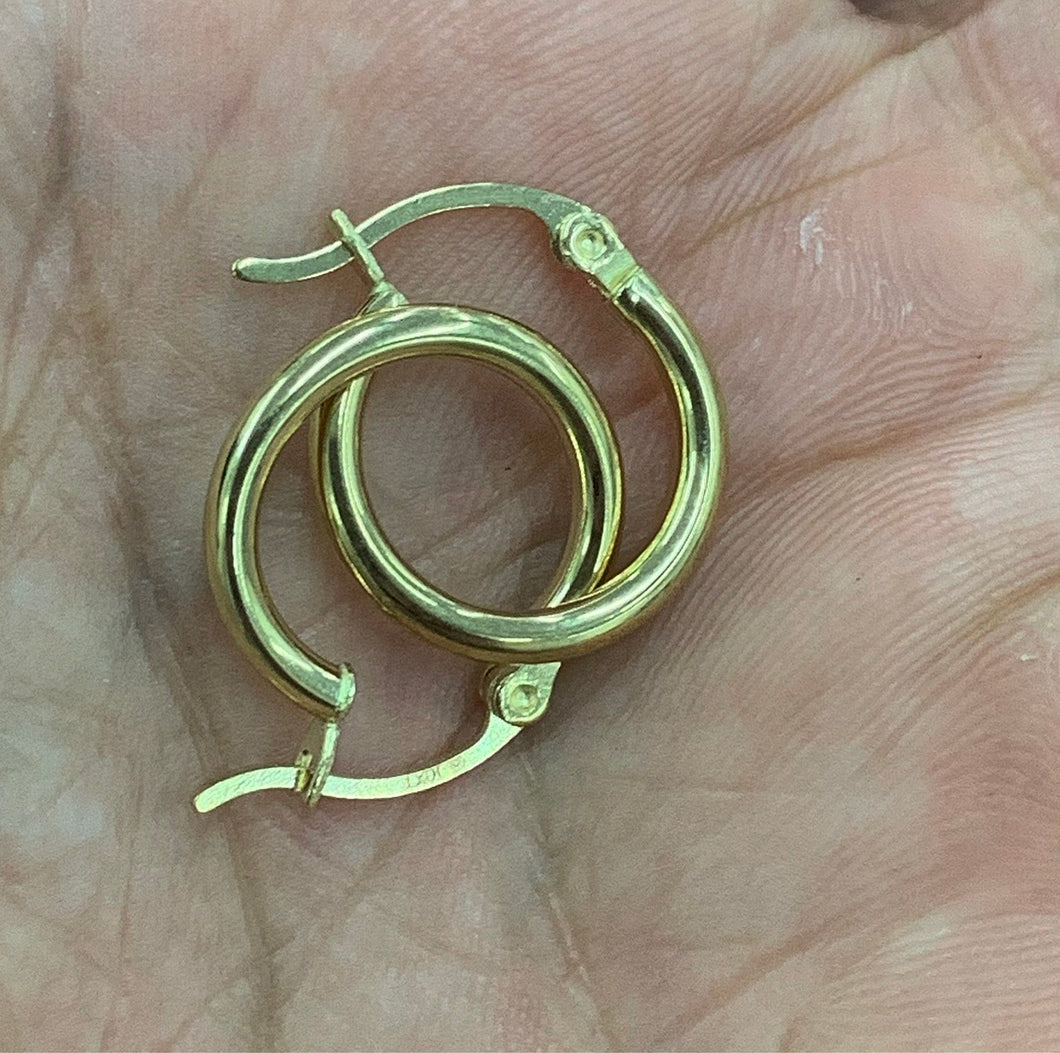 10k real gold classic hoops