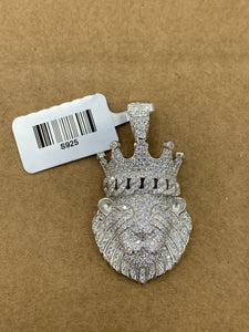 925 silver crown lion with rope
