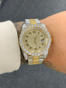 Big prong bezel Roman numeral watch -