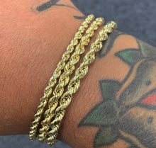 Load image into Gallery viewer, 10k gold Rope bracelets