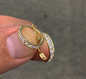 10k real gold diamond hoops