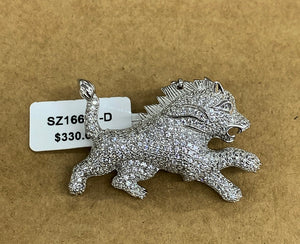 925 full lion pendant
