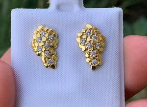 Diamond nugget earrings