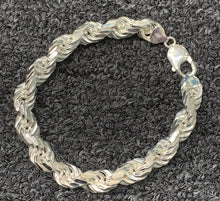 Load image into Gallery viewer, 925 silver 10mm rope bracelet