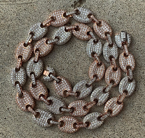 Two tone Gucci link necklace 10mm