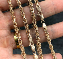 Load image into Gallery viewer, 5mm 10k rope chain ROSE GOLD