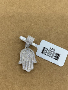 925 silver mini hamsa with rope chain