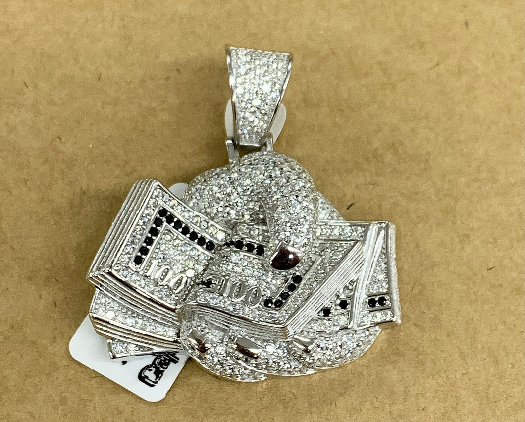 925 silver money in hand pendant