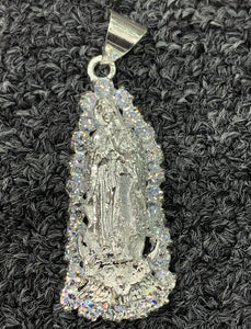 925 sterling silver Virgin Mary pendant