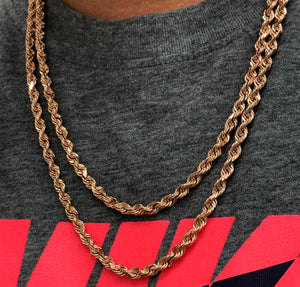 5mm 10k rope chain ROSE GOLD