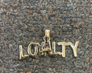 10k gold loyalty pendant
