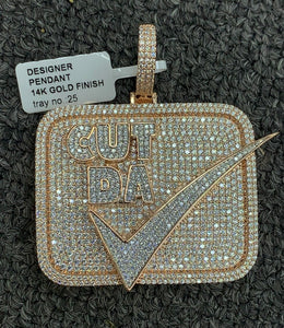 Cut da check pendent With rope Chain