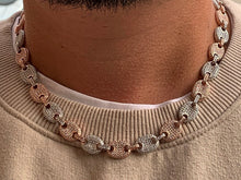 Load image into Gallery viewer, Two tone Gucci link necklace 10mm