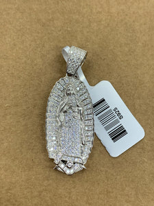 925 silver Virgin Mary with rope chain
