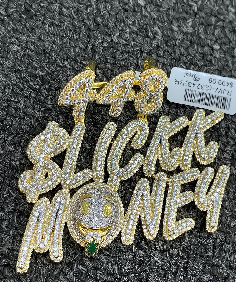 Slick money pendant with rope chain