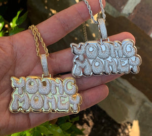 Young money pendant with rope chain