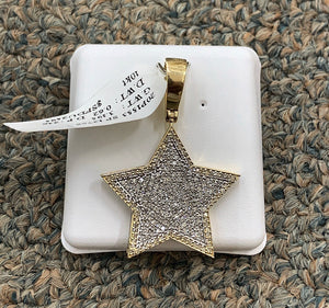 10k si diamond star pendant