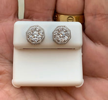 Load image into Gallery viewer, Octagon 925 silver earrings