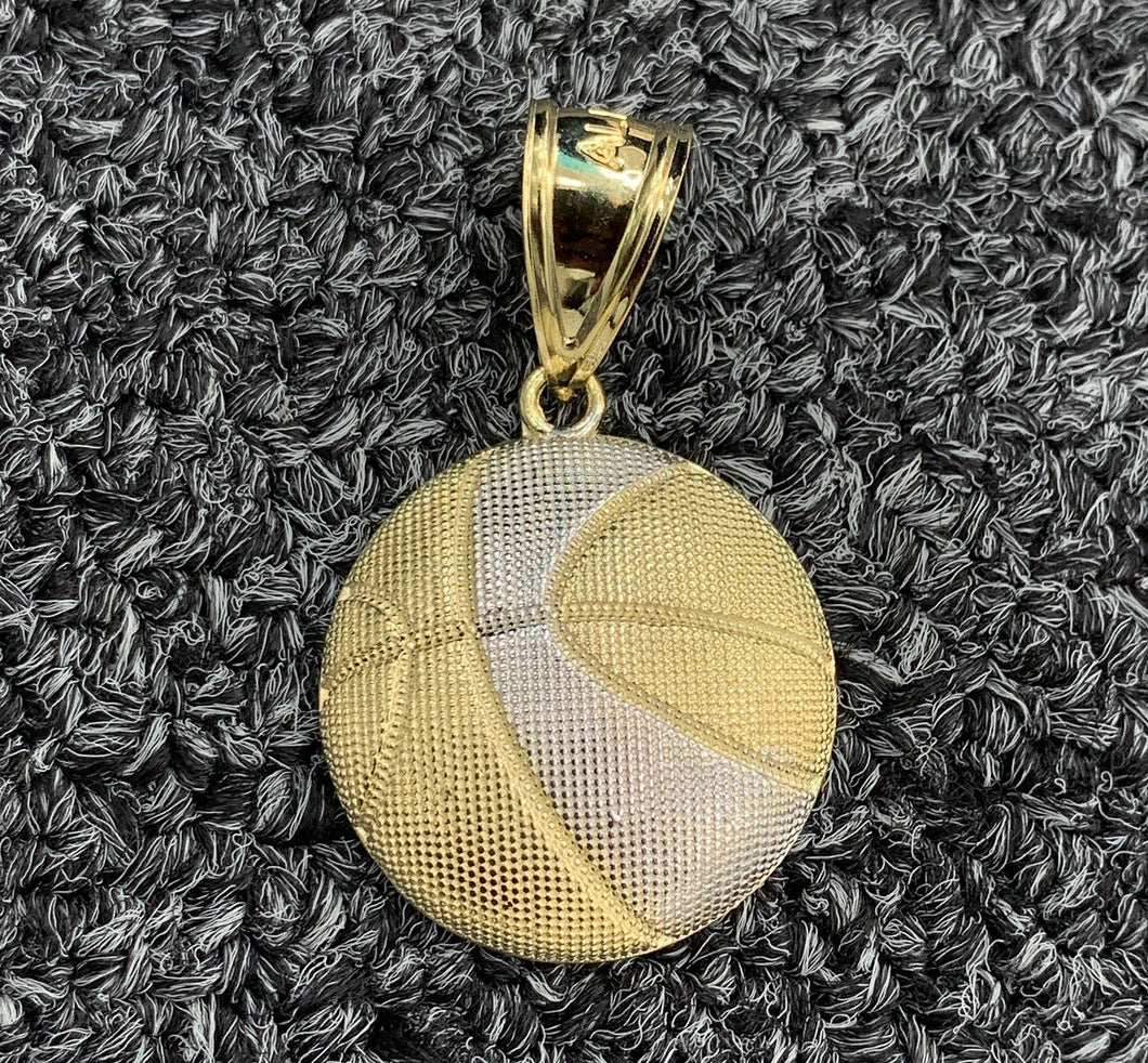 10k gold basketball pendant