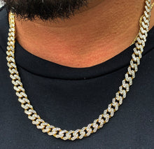 Load image into Gallery viewer, 10k gold Monaco Cuban chain 8mm