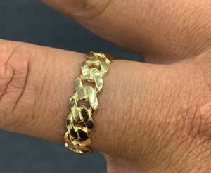10k gold solid Cuban ring