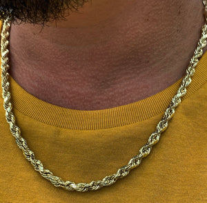 6mm 10k gold rope chain